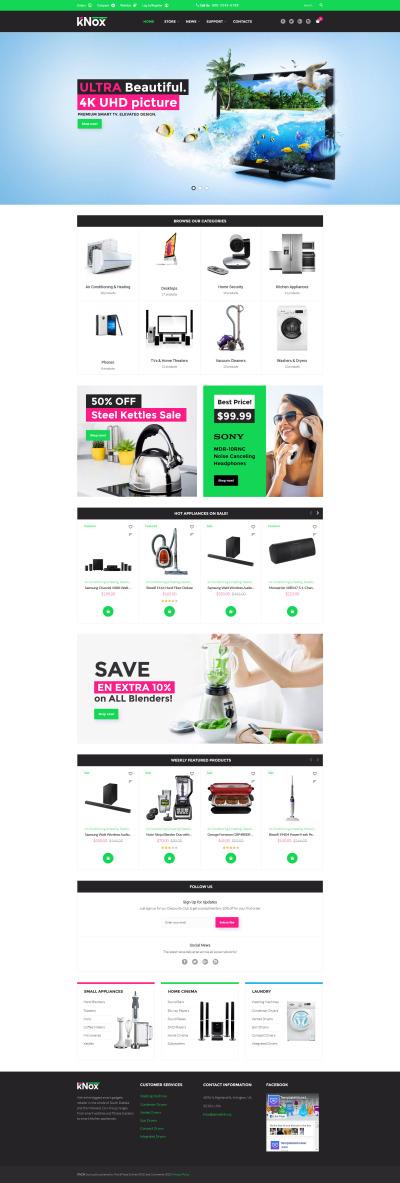 Flexível tema WooCommerce №60096 para Sites de Loja de Eletrônicos
