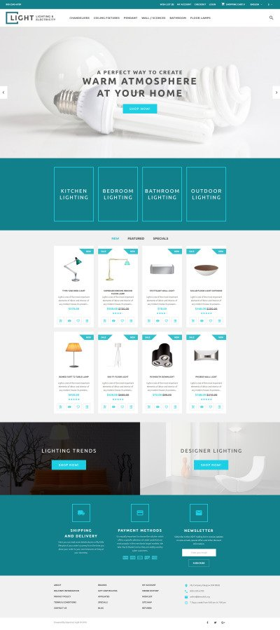 Light OpenCart Template #60056