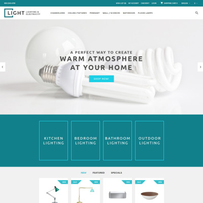lighting electricity bootstrap themes templatemonster