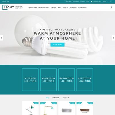 Light OpenCart Template #60056
