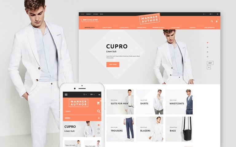 MannerAuthor - Men Clothes PrestaShop Theme New Screenshots BIG