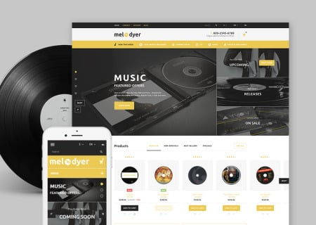 music Prestashop template