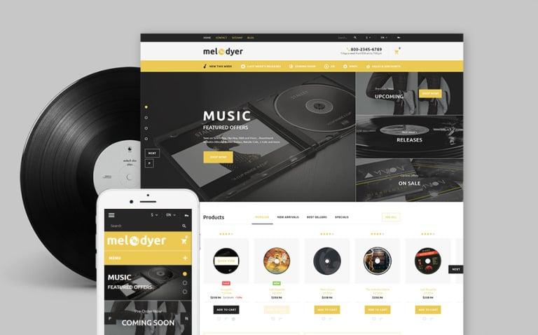 Melodyer - Audio Store Responsive PrestaShop Theme New Screenshots BIG