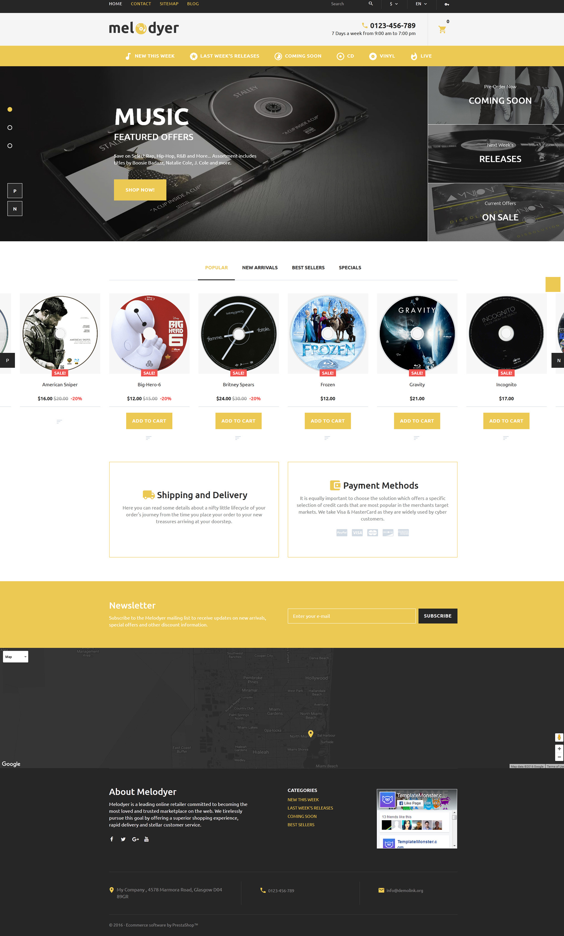 Melodyer - Audio Store Responsive PrestaShop Theme - screenshot