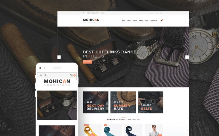Mohican - Fashion Accessories WooCommerce Theme New Screenshots BIG