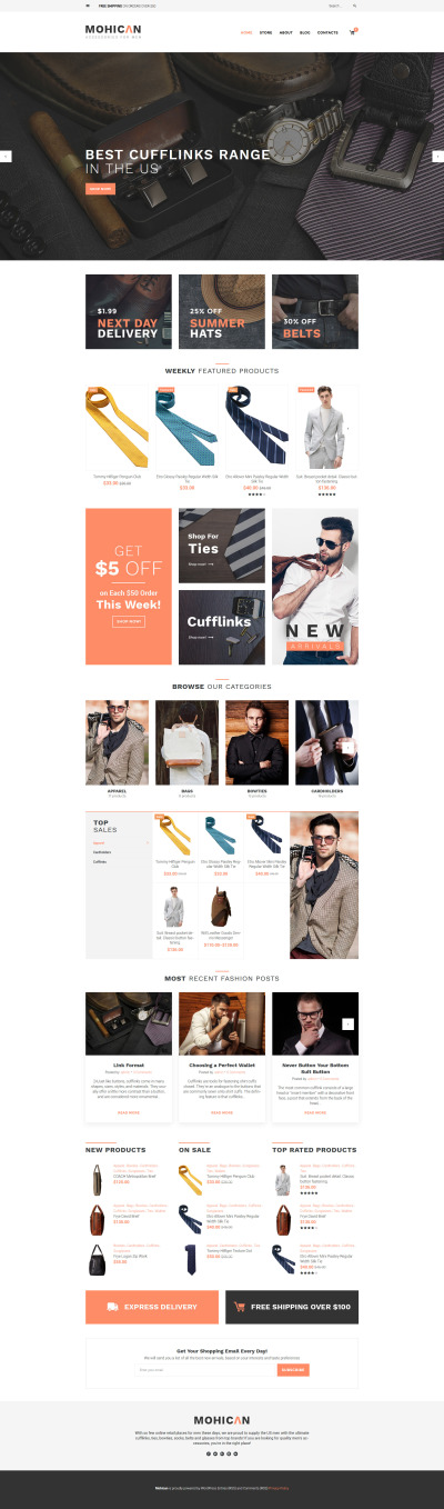 Mohican - Fashion Accessories WooCommerce Theme #60098