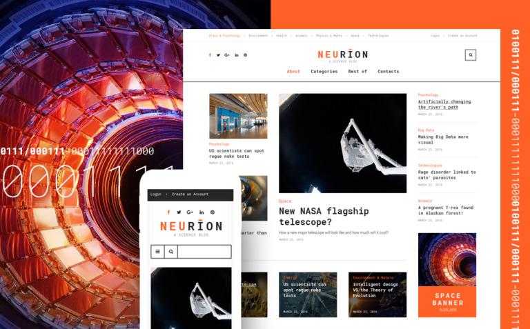 Neurion Website Template New Screenshots BIG
