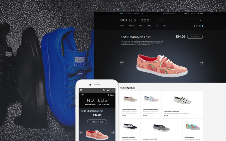 Notillis - Shoe Store Responsive Magento Theme New Screenshots BIG