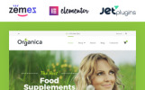 """Organica - Organic Food, Cosmetics and Bio Active Nutrition"" thème WooCommerce adaptatif"
