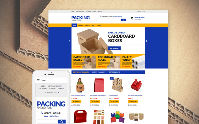 Packing VirtueMart Template New Screenshots BIG