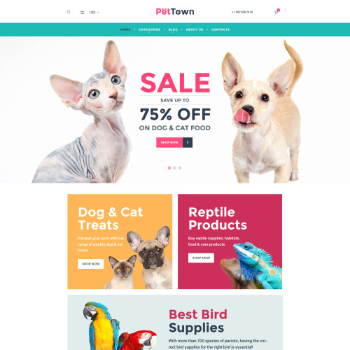 Pettown  - Responsive WooCommerce Template