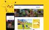 """Pokemania - Game Portal Pokemon"" - адаптивний WordPress шаблон New Screenshots BIG"