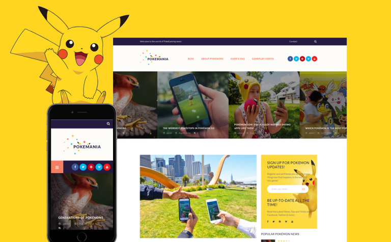 Pokemania - Game Portal Pokemon WordPress Theme