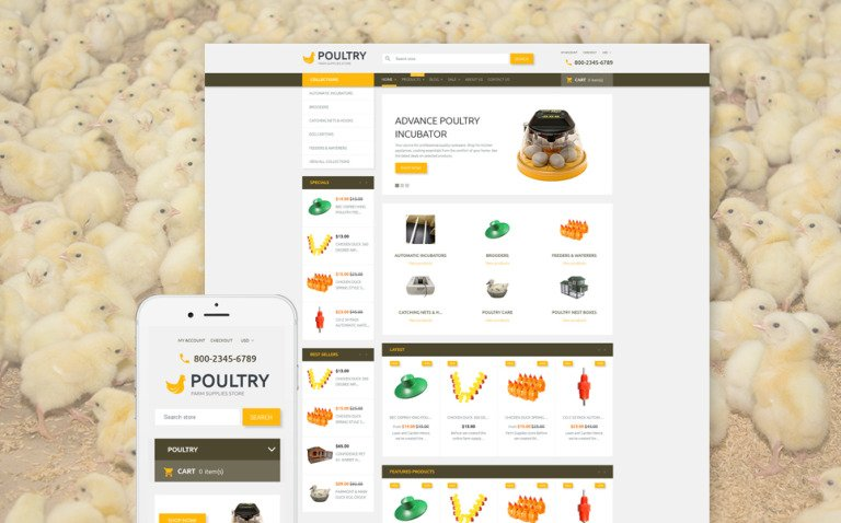 Poultry Shopify Theme New Screenshots BIG