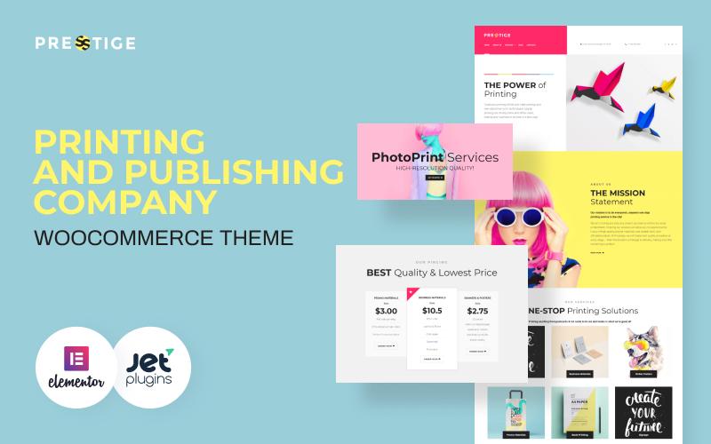 """Presstige - Digital Printing Company Responsive"" Responsive WordPress thema №60084"