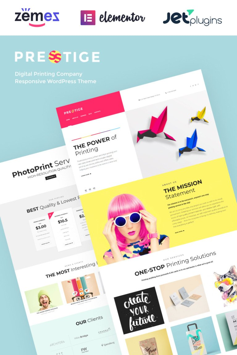 Presstige - Digital Printing Company Responsive WordPress Theme New Screenshots BIG