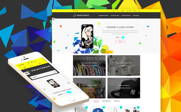 Printerox Design Responsive PrestaShop Theme New Screenshots BIG