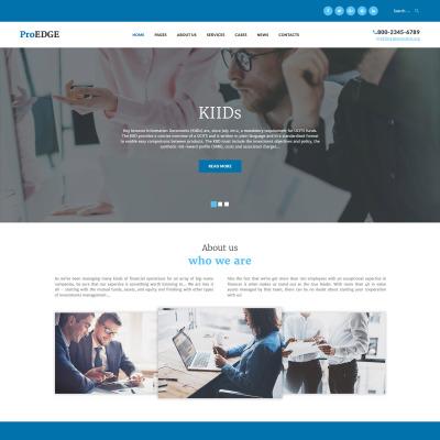 Thème WordPress adaptatif  pour une société d'investissement
