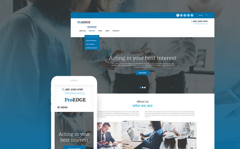 ProEDGE WordPress Theme New Screenshots BIG