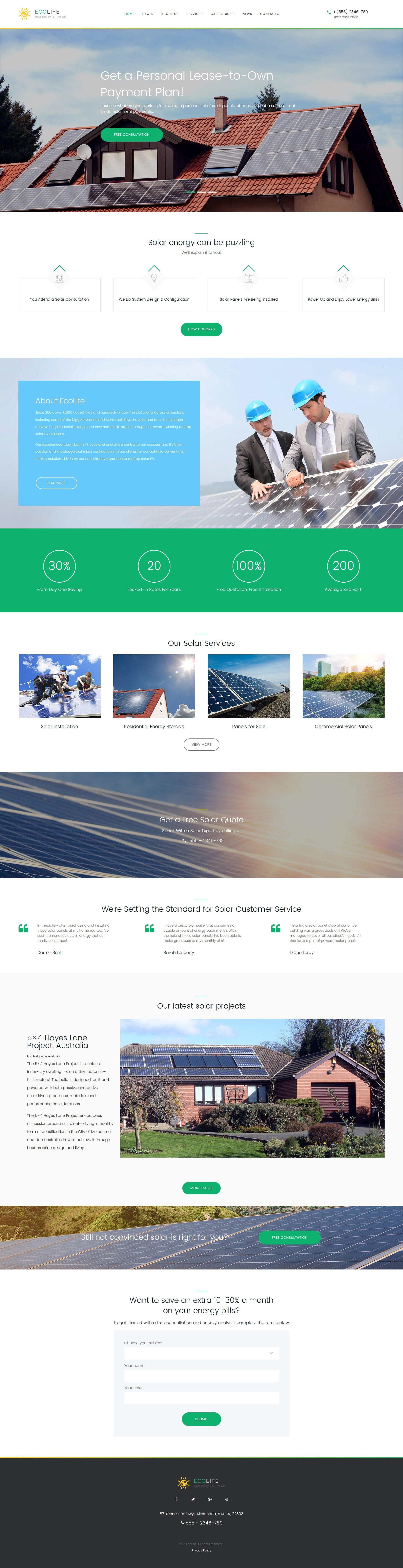 Responsive Eco Life - Environment & Ecology Wordpress #60051