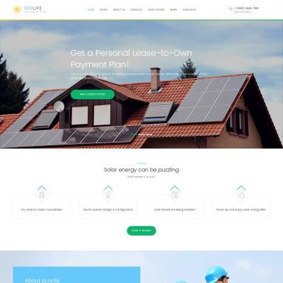 Solar Energy Responsive WordPress Teması