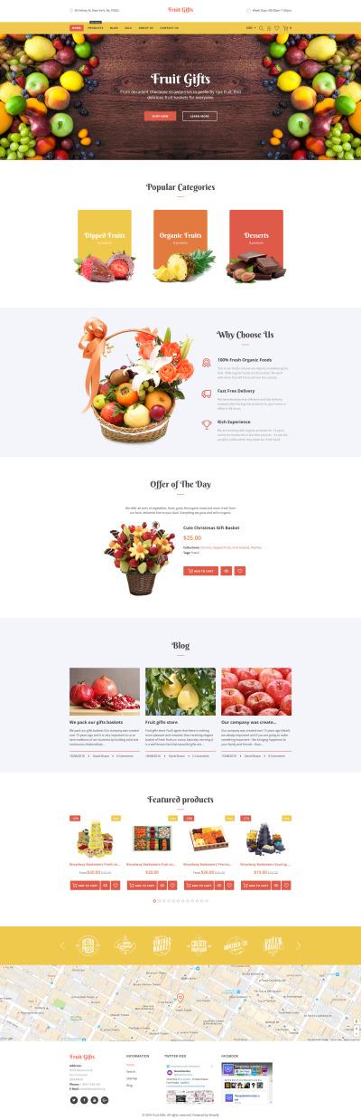 Fruit Responsive Shopify Teması