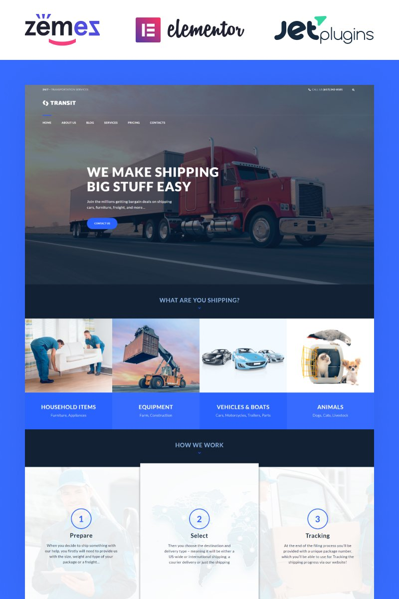 Responsive Transit - Logistics and Transportation Service Wordpress #60055 - Ekran resmi