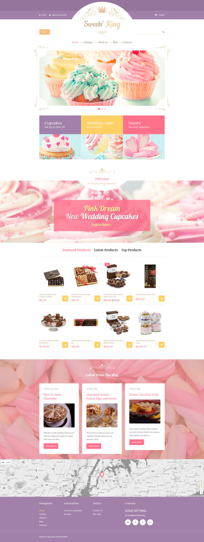 Responsive VirtueMart Vorlage für Süßwarengeschäft  #60042