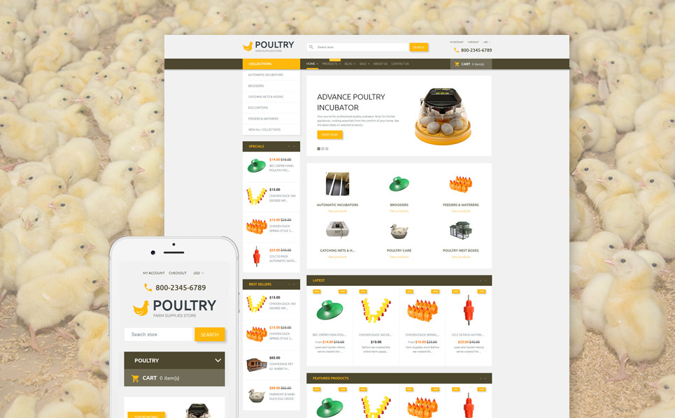 Responsives Shopify Theme für Geflügelfarm  New Screenshots BIG