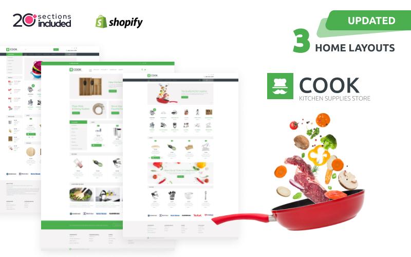 Responsivt Cook Shopify-tema #60059