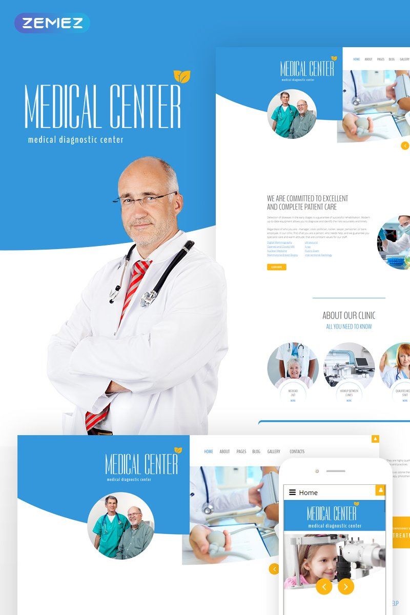 Responsywny szablon Joomla Diagnostic - Medical diagnostic center #60027 - zrzut ekranu