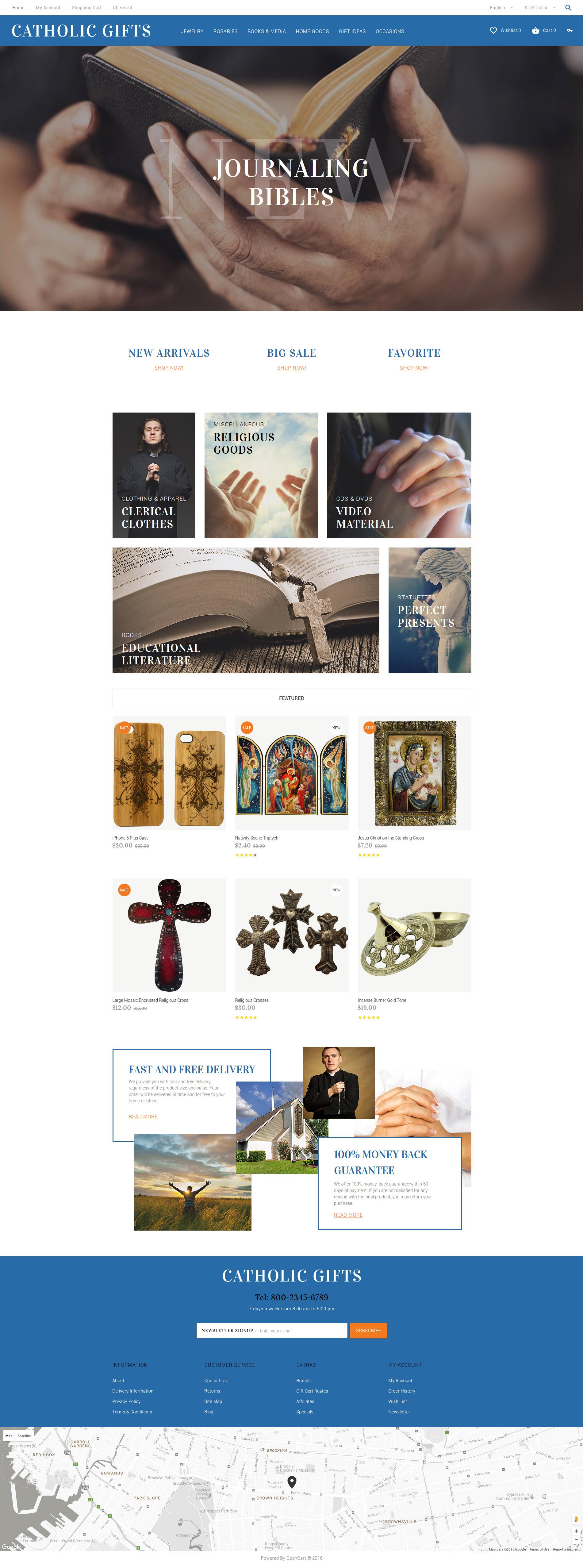 Responsywny szablon OpenCart Catholic Gifts #60035