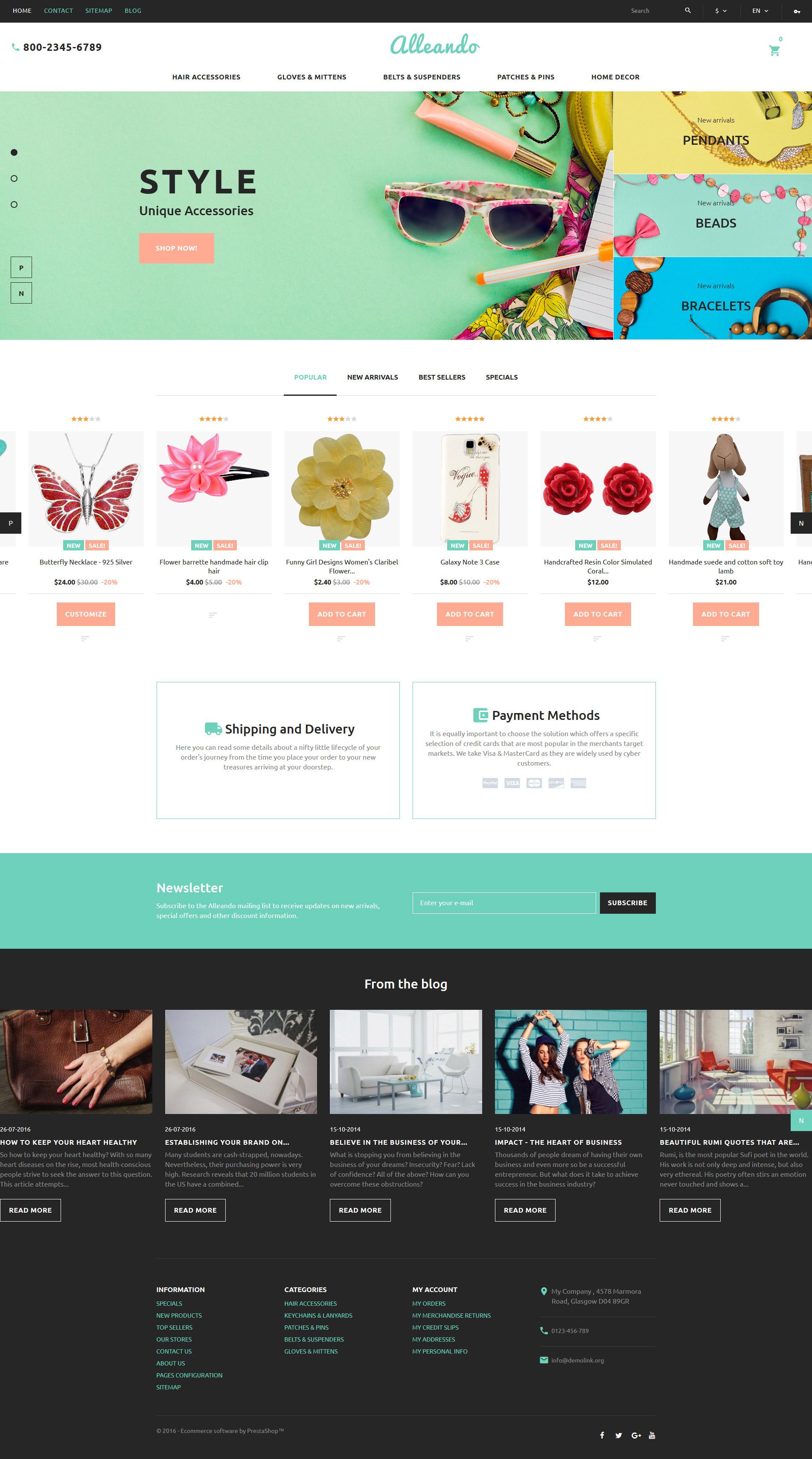 Responsywny szablon PrestaShop Alleando - responsywny sklep z dekoracjami #60017