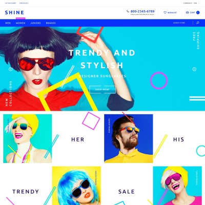 Responsywny szablon Shopify #60057 na temat: okulary