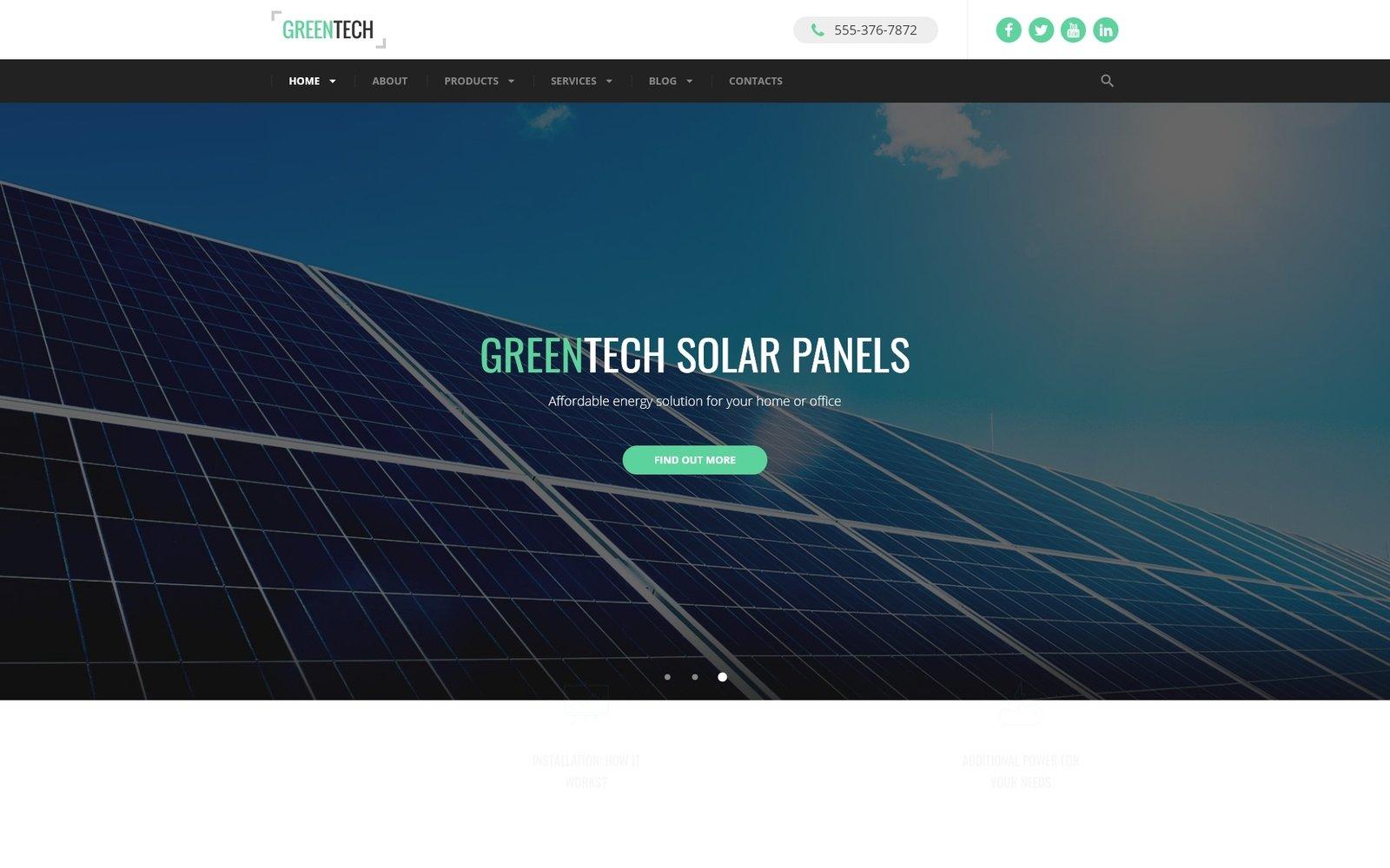 Responsywny szablon strony www Green Tech #60074