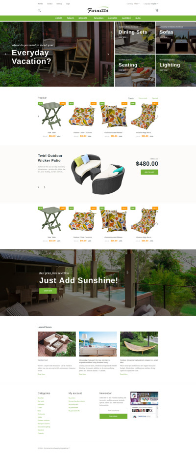 Furniture Responsive PrestaShop Motiv