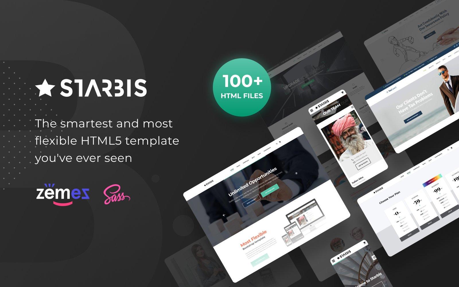 """Responzivní Šablona webových stránek """"Starbis - Business Multipurpose Bootstrap 4"""" #60047"""