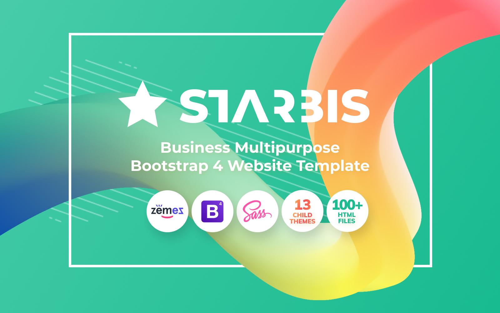 """Responzivní Šablona webových stránek """"Starbis - Business Multipurpose Bootstrap 4 Website Template"""" #60047"""
