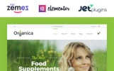 "Responzivní WooCommerce motiv ""Organica - Organic Food, Cosmetics and Bio Active Nutrition"""