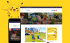 "Responzivní WordPress motiv ""Pokemania - Game Portal Pokemon"" New Screenshots BIG"
