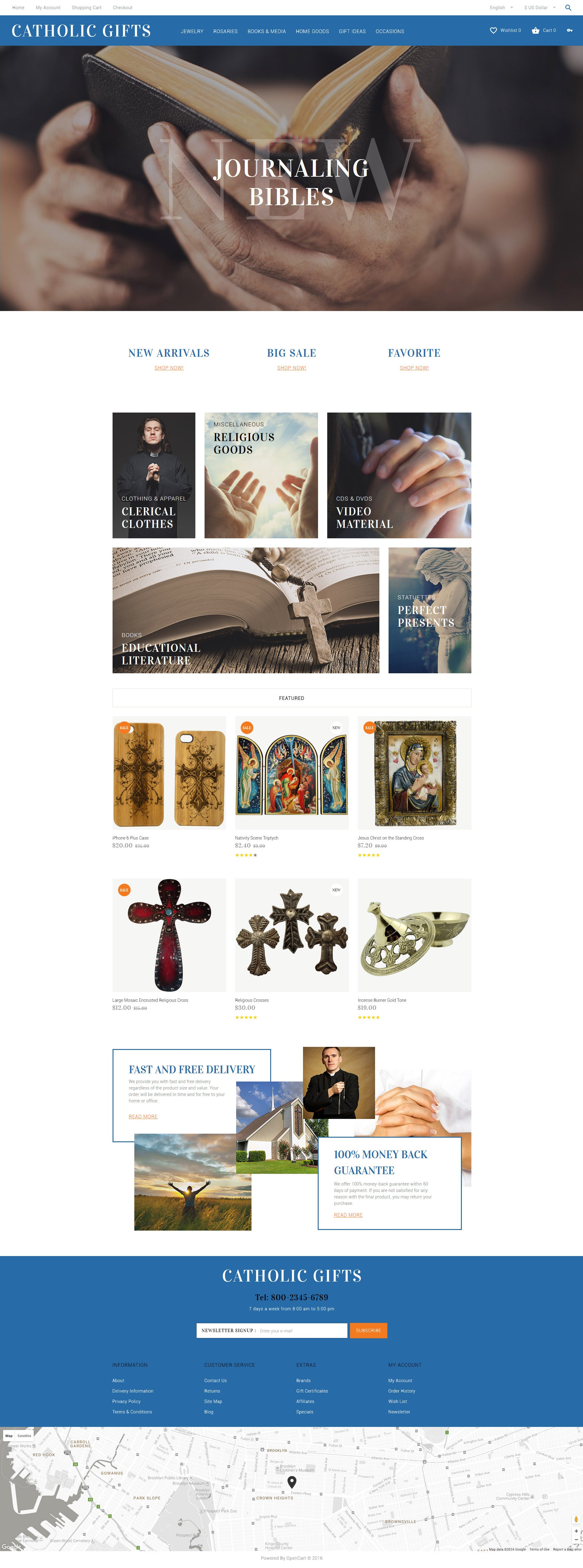 Reszponzív Catholic Gifts OpenCart sablon 60035