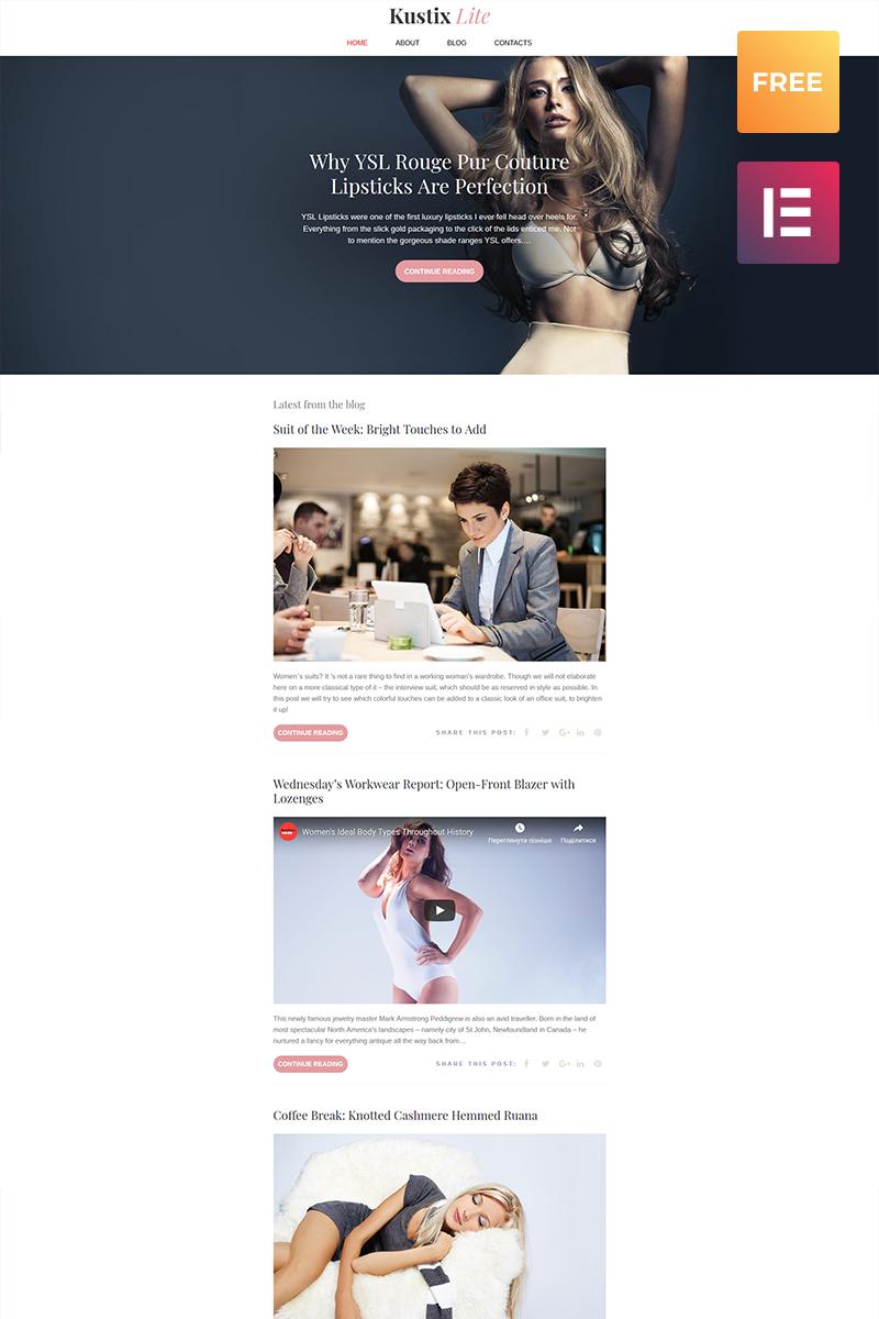 Reszponzív Kustrix Lite - Ingyenes Wordpress téma WordPress sablon 60061 - képernyőkép