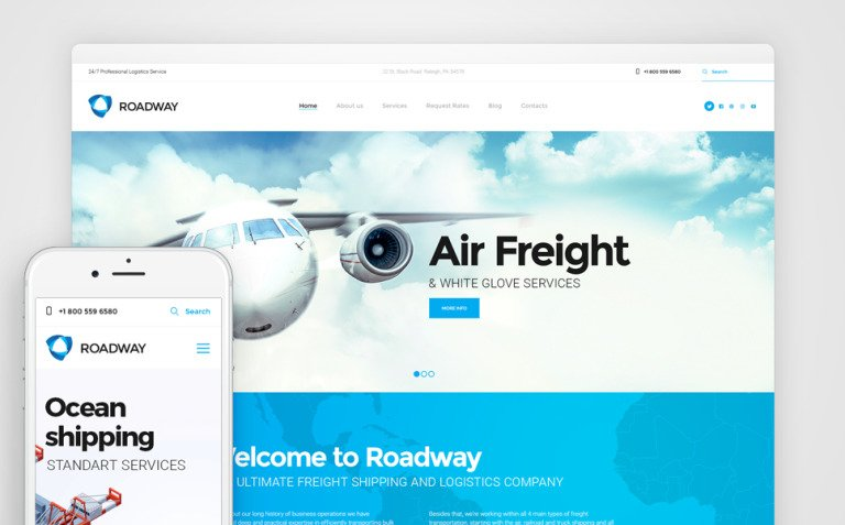 Roadway - Logistics & Transportation Services WordPress Theme New Screenshots BIG