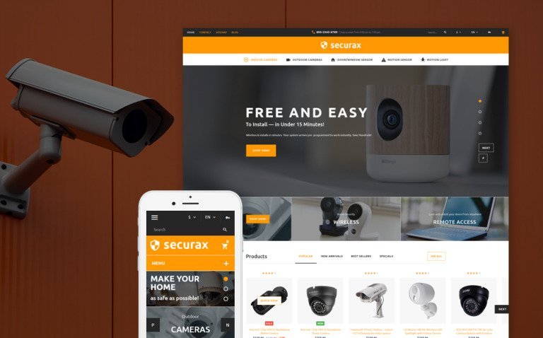 Securax - Security Systems Responsive PrestaShop Theme New Screenshots BIG