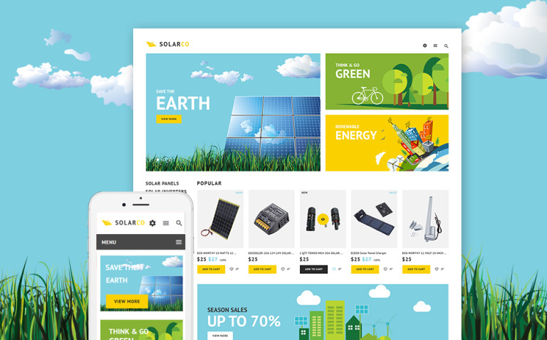 SolarCo - Solar Batteries Accessories PrestaShop Theme New Screenshots BIG