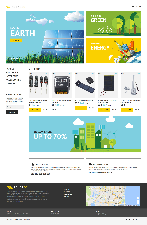 SolarCo - Solar Batteries  Accessories PrestaShop Theme