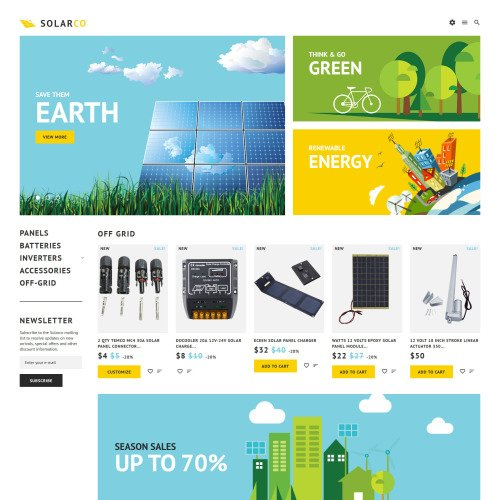 Solarco  - PrestaShop Template based on Bootstrap