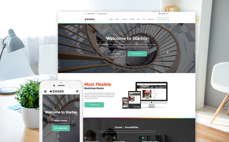 Starbis - Multipurpose Website Template For Business Big Screenshot