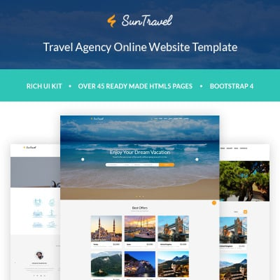 40 best travel agency website templates
