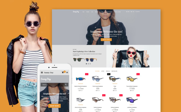 Sunny Day - Responsive OpenCart template + RTL New Screenshots BIG